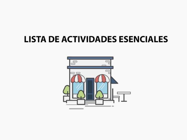 lista de actividades esenciales
